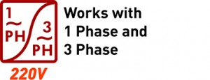 Works with 1 Phase and 3 Phase